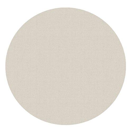 DecoHomeTextil d-c-fix Acryl Soft Meterware Tischdecke 100% Baumwolle RUND OVAL Größe & Farbe wählbar Beige Sand 90 cm Rund abwaschbare Tischdecke