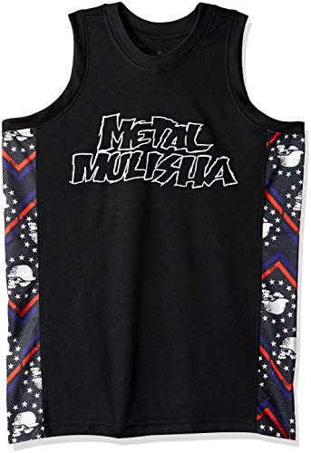 Metal Mulisha Herren Rebellion Jersey Hemd, schwarz, Mittel