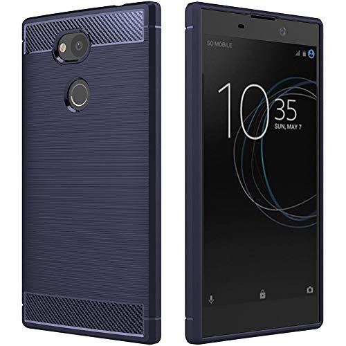 ebestStar - kompatibel mit Sony Xperia L2 Hülle L2 Dual (2018) Kohlenstoff Design Schutzhülle, TPU Handyhülle Flex Silikon Hülle, Dunkelblau [Phone: 150 x 78 x 9.8mm, 5.5'']