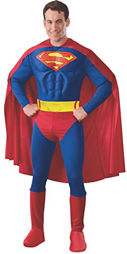 Rubie's 3888016 - Superman Muscle Chest Adult, M, blau/rot