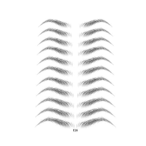 Gaddrt 4D Eyebrow Aufkleber Lazy Eyebrow Stamp Haarartig Authentische Augenbrauen Brow Shaper Grooming Shaping Bilden 11 Paare (A 11 Paare)