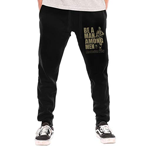 100 Be A Man Among Men Rhodesian Army Recruitment Poster Yx785 Best Product Men's Jogger Pants Long Sport Sweatpants with Pockets Black