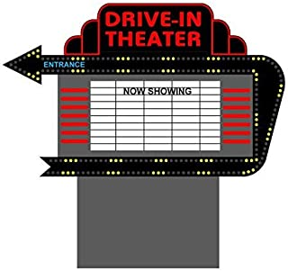 1381 Model Drive In Animated Lighted Sign by Miller Signs