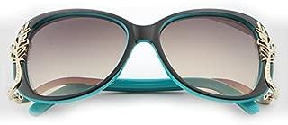LUKEEXIN Women's Sunglasses Fashion Sunglasses Trend Box Metal Sunglasses (Color : Blue)