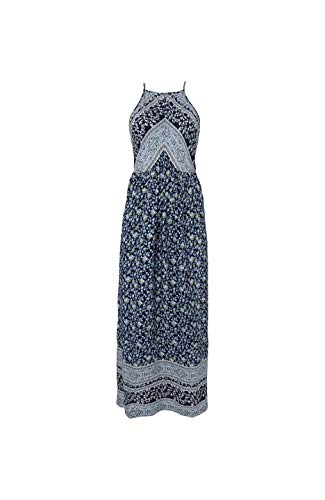 O'NEILL LW Chrissy Strappy Dress Robe Longue pour Femme L Bleu (Blue AOP)