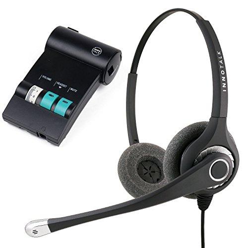 Avaya Lucent ATT Partner Phone MLS-12D, MLS-34, MLS-6 Superb Sound Office Binaural Noise Cancel Headset with Headset Amplifier -  HeadsetsBank, CBG4AV-H027TFNBG-X475U