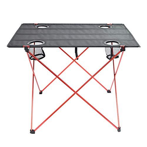 GWQDJ Klappbarer Camping-Tisch Tragbare Angeltische für Outdoor-Rucksäcke Leichte Roll-Up-Schreibtisch-Gartenmöbel,A