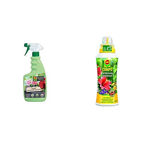 Compo Fazilo insecticida Natural, Pulverizador, Control de plagas en Plantas Ornamentales de Interior y Exterior, 750 ml + Calidad para Plantas Ornamentales de Interior o terraza, 500 ml, 1433