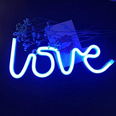 Love Neon Signs Led Neon Light Art Decorative Lights Wall Decor for Children Baby Room Christmas Wedding Party Decoration-Blue Love