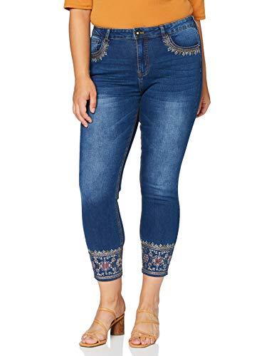 Desigual Denim_rous Jeans, Blue, 33 Donna