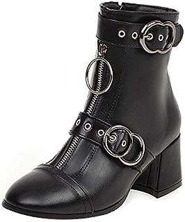 RAZAMAZA Women Chic Bloack Heels Booties Round Toe