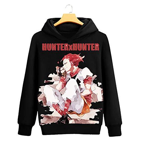 WWZY Anime Hunter×Hunter Sudadera con Capucha 3D Impreso Pullover Hoodie Suéter Manga Larga Sweatshirts Cosplay Disfraz Chaquetas Jersey Ropa,S