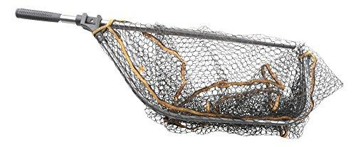 Savage Gear Pro Folding Rubber Large Mesh Landing Net XL (70x85cm) Kescher, Angelkescher, Fischkescher, Unterfangkescher, Raubfischkescher, Hechtkescher