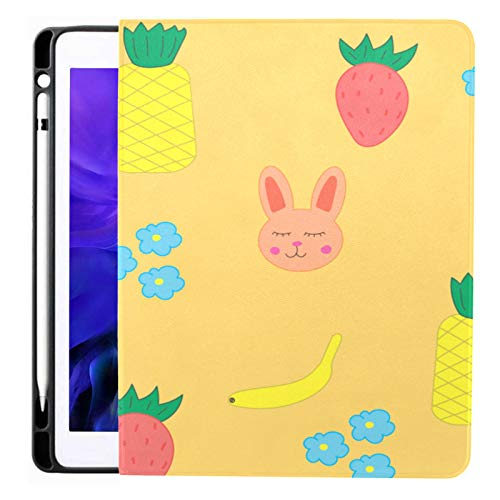 Ipad Pro 12.9 Case 2020 & 2018 With Pencil Holder Children Rabbit Strawberry Pine Smart Cover Ipad Case, Supports 2nd Gen Pencil Charging,case For 2020 Ipad Pro 12.9 Cover With Auto Sleep/wake