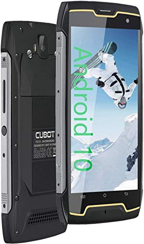 CUBOT Kingkong CS Outdoor Smartphone ohne Vertrag, IP68 Wasserdicht, Stoßfest, Android 10, 5 Zoll HD Display, 4400mAh Akku, 2GB+16GB, 64 GB Erweiterbar, Dual SIM, Face-ID, Schwarz