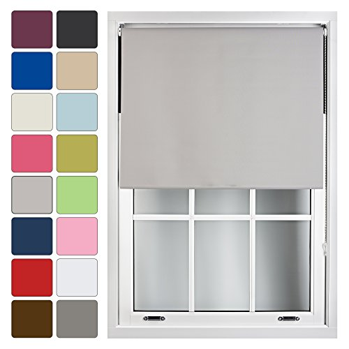 FURNISHED Blackout Roller Blind Made to Measure 14 Sizes 16 Colours Grey...