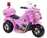 fit4form Kinder Elektro Trike Elektromotorrad 6V Pink rosa Kindermotorrad Licht u. Topcase