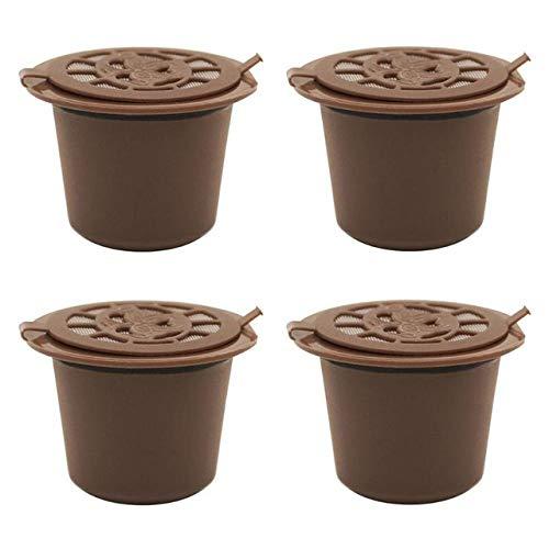 COKFEB Koffie filter 4 Stks/set Herbruikbare Koffie Capsule Filter Shell voor Nespresso Koffiemachine Cup Refillable Koffie Dripper Theemanden Herbruikbaar