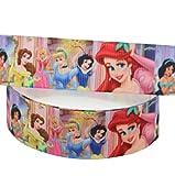 Diseño de princesas DISNEY morado de cinta de grogrén 2 m X 22 mm para tartas...