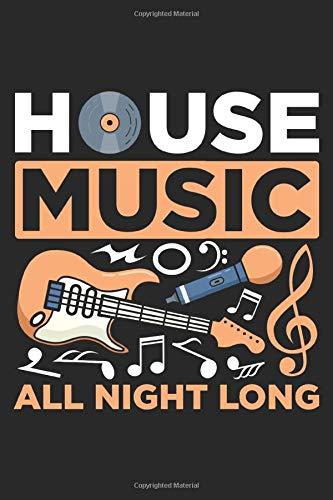 Music: House Music Lover Party Beat Disco Notizbuch DIN A5 120 Seiten für Notizen, Zeichnungen, Formeln | Organizer Schreibheft Planer Tagebuch