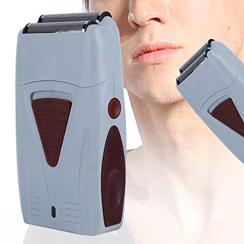 Recortador de pelo eléctrico, máquina de afeitar de doble cabeza recargable para hombres, afeitadora alternativa, kit de...