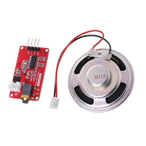 qiulip UART - Módulo de Reproductor de música MP3 con Altavoz y Amplificador de Auriculares para Arduino