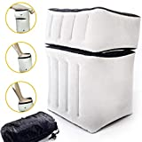 Airplane Travel Foot Rest Pillow - 2-in-1 Inflatable Leg Rest for Travel, Home