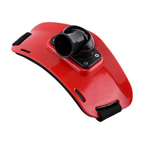 Starbun Pesca Cinturón - Ajustable de plástico ABS de Alto Impacto se Levanta la Correa de la caña de Pescar el sostenedor for la Pesca al Aire Libre (Color : Red)