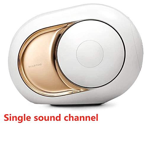 Goldener Lautsprecher - High-End-Funklautsprecher, Goldenes Ei Drahtloser Bluetooth-Lautsprecher Player Superstarker Stereoklang Verbesserter Bass Tragbarer superstarker Subwoofer (Weiß)