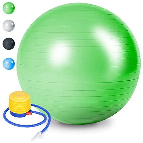Multifuncional: las pelotas de ejercicio pueden ayudar a fortalecer los músculos de las nalgas, el abdomen, la espalda y el tronco, así como a prevenir el lumbago. Es ideal como balón de asiento en la oficina o en casa. Área de aplicación: las pelota...