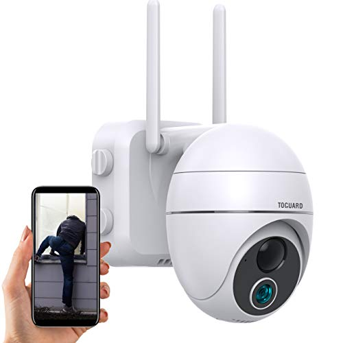 TOGUARD Wireless WiFi Security Camera Outdoor, 15000mAh Rechargeable...