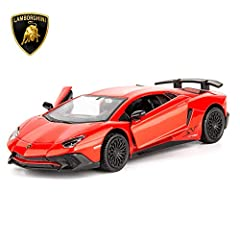 · High Quality and Aventador Authorization:authorized by Aventador, authorized model LP700-4,anti-counterfeit label on the outer box,Size:4.72 inch x 1.97 inch x 1.97 inch.(1:36 Scale). · High-Quality Materials and Strong Pull Back: The car is made o...