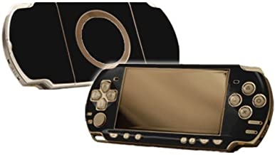 Matte Black Vinyl Decal Faceplate Mod Skin Kit for Sony PlayStation Portable 2000 (PSP-Slim) Console by System Skins