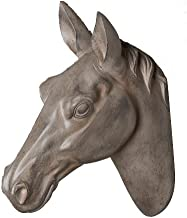 Horse Head by Wall Charmers | Silver Faux Head Mount Bust Fake Animal Resin Taxidermy Decorative Horse Head Mounted Replica Decor Art (Gray)
