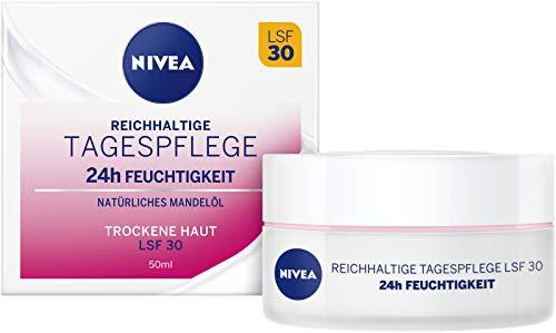 NIVEA Essentials Tagespflege 24h Feuchtigkeit + Reichhaltigkeit im (50 ml), Feuchtigkeitscreme mit...