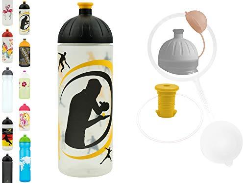 FreeWater Trinkflasche, 700ml, Tischtennis transp.: schadstofffrei, kohlensäuredicht, spülmaschinengeeignet, langlebig