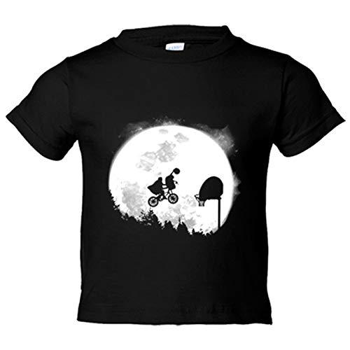 Camiseta niño parodia ET El Extraterrestres baloncesto - Negro, 3-4 años