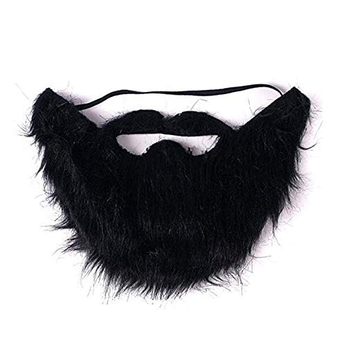 VIGUEUR Mustaches Self Adhesive - Costume Party Male Man Fake Beard Moustache Black (1pc)