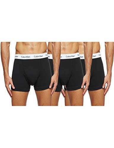 Calvin Klein Underwear Men's Trunks Pack of 3 - Cotton Stretch, Black (Black), Medium