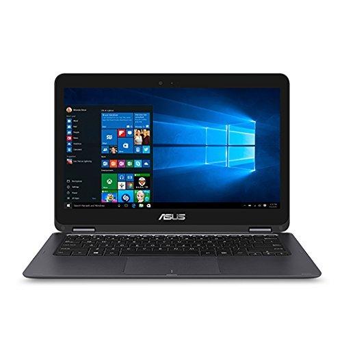 "ASUS Zenbook 13.3"" Full HD 1920x1080 Touchscreen 2-in-1 Laptop PC Intel Core M3-6Y30 Processor 8GB RAM 256GB SSD 802.11AC Wifi HDMI Bluetooth Webcam Windows 10-Gray (Renewed)"
