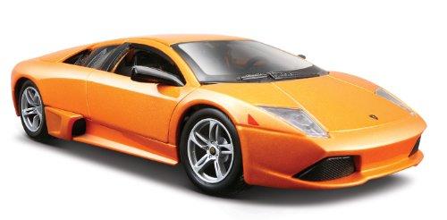 Maisto Lamborghini Murcielago LP 640: getrouw modelauto 1:24, deuren en kofferbak te openen, klaar model, 20 cm, oranje (531292)