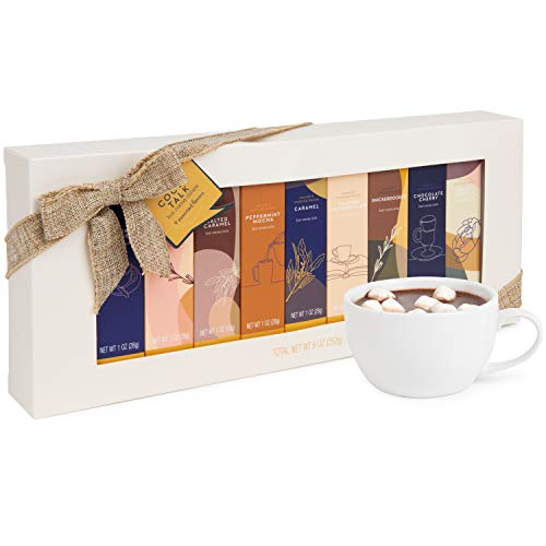 Thoughtfully Gifts, Gourmet Hot Chocolate Gift Set, Flavors Include Salted Caramel, Toasted...