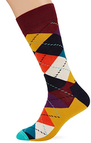 Happy Socks Herren Argyle Socken, Mehrfarbig (Multicolour 270), 7/10 (Herstellergröße: 41-46)