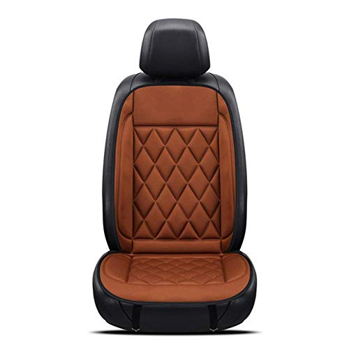 CAT-JXW Seat Heating Pad,12V Car Heating Heated Seat Cover Cushion,with Thermostat,Brown-seat-x2