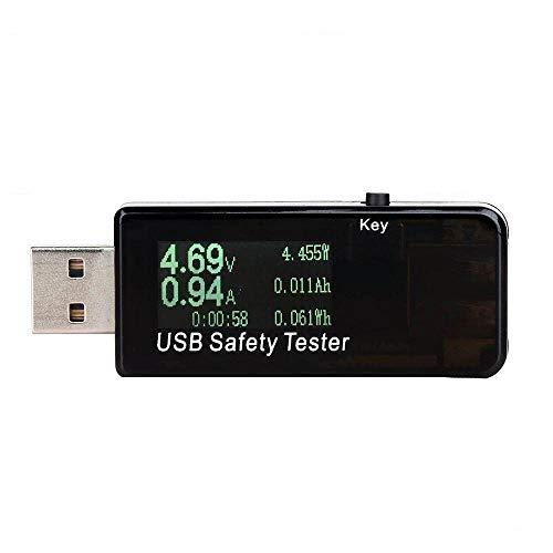 USB Multimeter QC2.0 QC3.0 Tester Strom(A) Spannung(V) Energie(Wh) Widerstand Kapazität(mAh) und Leistung(W) Zeit(Sekunden), Temperatur
