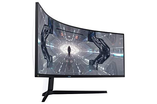 Samsung Odyssey G9 (C49G93TSSU) 124 cm (49 Zoll) 240Hz Gaming Monitor (5.120 x 1.440 Pixel, 1ms, QLED, DQHD, 1000R, Dual Monitor, HDR, G-Sync kompatibel, ultra wide) weiß