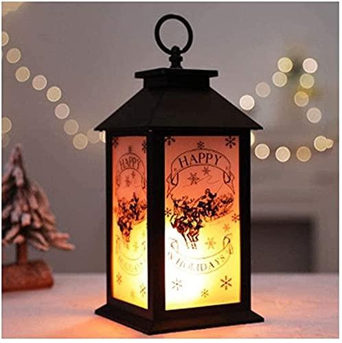 Luz LED de llama Luces de fuego Simulación de Navidad Llama Ligera Barra de Luz Disposición Portátil Pequeña Lámpara de Aceite Pequeña Halloween Decoración Props Buje Lámpara de Decoración de Escritor