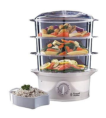 Russell Hobbs 3 Tier 9 L Capacity 800 W Food Steamer