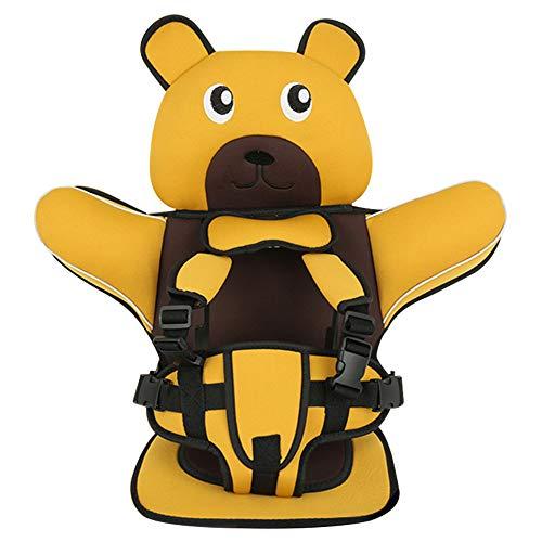 Chnrong Asiento de coche, agradable al tacto, asiento para niños con hebilla fija en la espalda, almohadilla de refuerzo mejora, cojín antideslizante para niños de 0 a 12 años de edad