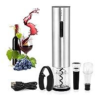 ballery cavatappi elettrico, apribottiglie elettronico, acciaio inossidabile automatico la bottiglia si apre, tappo del vino,versatore, taglia foglio, ottimo regalo